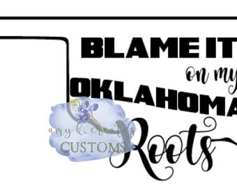 Oklahoma Roots svg dxf png jpg files for Cricut, Silhouette, and other machines.