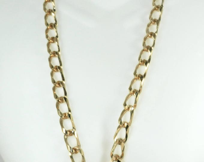 Vintage COUTURE Link necklace, Vintage Heavy Gold Chain Link Necklace, Long Runway Punk Rock Necklace, Gift for Her, Fashion Runway