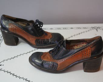 1970's Two Tone Brogues // Size 8
