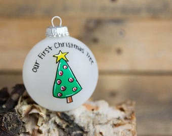 Our First Christmas Tree Ornament - Personalized for Free