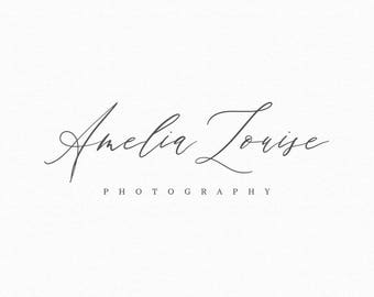 Calligraphy Photography Logo - Premade Photography Logo and Watermark Design - Business Watermark Logo - Delicate Calligraphy Logo - 287
