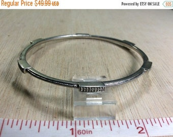 "10% OFF 3 day sale 925 Sterling Silver 8"" Bracelet Bangle 14.4g JWBR Jane Seymore Diamond Accents Gently Used"