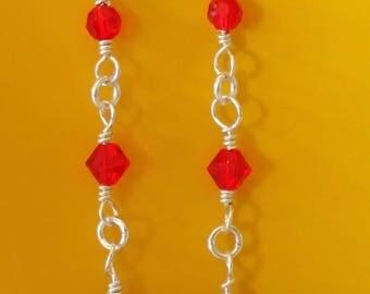Revving Red Swarovski Earrings