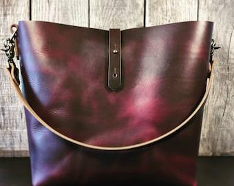 Burgundy Horween Shoulder Bag