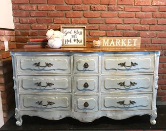 SOLD*****Large Farmhouse 9 Drawer Dresser or Buffet
