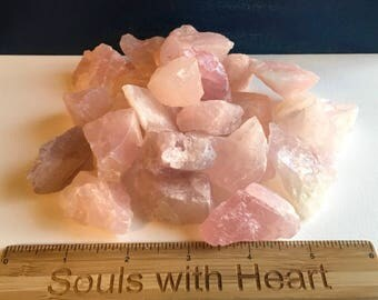 Rose Quartz Natural Stone, Love Stone, Love Crystal, Heart Chakra, Healing Crystal, Healing Stone