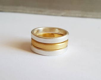 Gold and silver rings