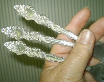 Vintage 1847 Rogers Bros. A1 Forks- Columbia pattern forks-Rogers forks for 1893 World's Fair-Fish design handles -silverplate Pirate forks
