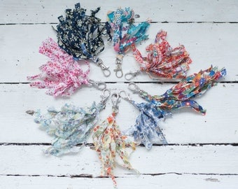 Liberty fabric keyrings