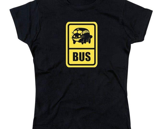 Ladies Cat Bus Totoro Inspired Tshirt Tribute (Yellow Version)