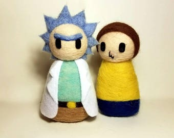 Needle Felted Rick And Morty Set
