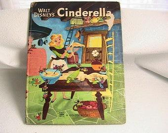 Cinderella, Golden Book by Walt Disney Titled Cinderella, Large Book, 1976