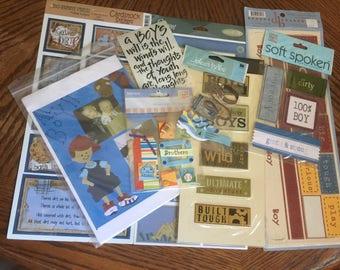 8 piece assorted set of Boy scrapbooking stickers S201