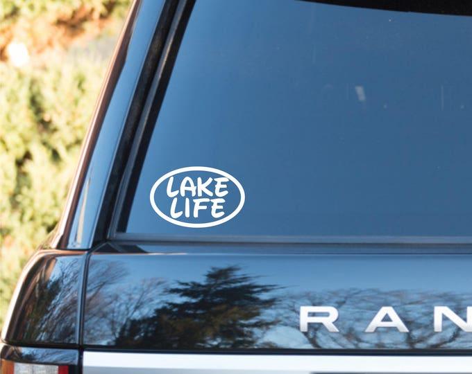 Lake Life vinyl decal, lake life sticker, lake life decal, lake life car decal, lake decal, lake sticker, lake life, lake lovers decal, lake