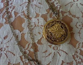 Whiting & Davis Locket, Vintage Lockets, Vintage Necklaces, Signed Jewelry, Estate Jewelry, Lockets, Locket, Whiting Davis, Antique Lockets