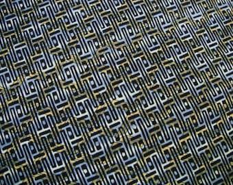 Indigo Geometric Hishi Vintage Japanese cotton kimono fabric
