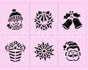 Christmas stencils set of 6 designs SL20177