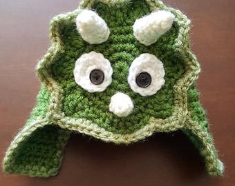 Crochet Dinosaur hat - baby dinosaur - triceratops hat - crochet baby hat - baby shower gift - newborn photography prop - crochet baby dino