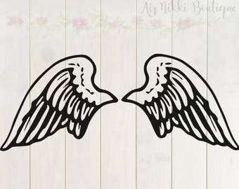 Wings SVG, PNG, DXF files, instant download