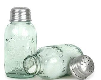Mini Mason Jar Salt 'n Pepper Shakers