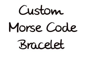 Custom Morse Code Bracelet, Mantra Bracelet, Secret Message Bracelet