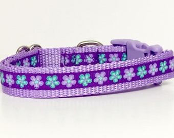 Flowers Dog Collar, Glitter, Flowers, Garden, Dog, Pet, Polka Dot Tails, Handmade