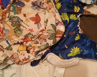 Huge lot of used cloth diapers and inserts