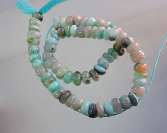 14-inch Natural Peruvian Opal smooth plain beads size 8.5-9mm GW2912