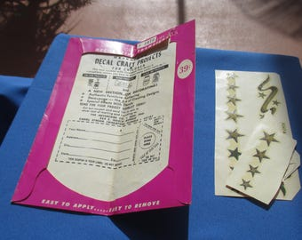 Vintage Meyercord Star Decals Decorative Transfers Remnants