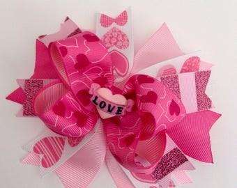 Valentine's  Day Girl Hair Bow !!!