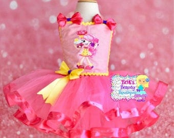 Inspired by Shopkins Shoppies Bubbleisha Ribbon Trimmed Tutu Dress/Shopkins Tutu Dress/Shopkins Shoppies Tutu Dress/Shopkins Dress/Shoppies
