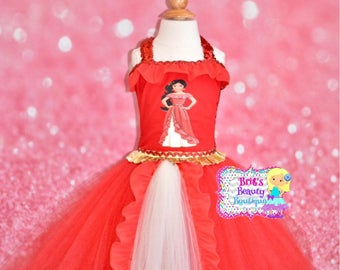 Inspired by Princess Elena of Avalor Tutu Dress Costume/Character Dress/Pageant Wear/Halloween Costume/Halloween Tutu/Girls Halloween Dress/