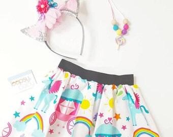 Unicorn Skirt - Skirt for Toddlers - Unicorn Clothing - Summer Skirt - Girl Skirt - Unicorn Outfit- Rainbow Birthday - toddler skirt
