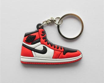 NIKE Air Jordan 1 BRED - keychain 90's Fashion - Stocking Stuffer