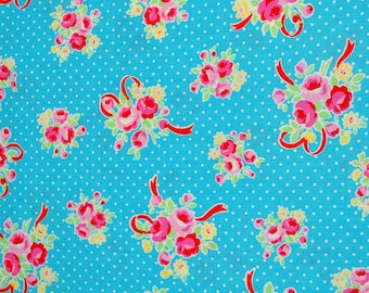 Sugar Flower Fall in Turquoise, Lucien Fabric