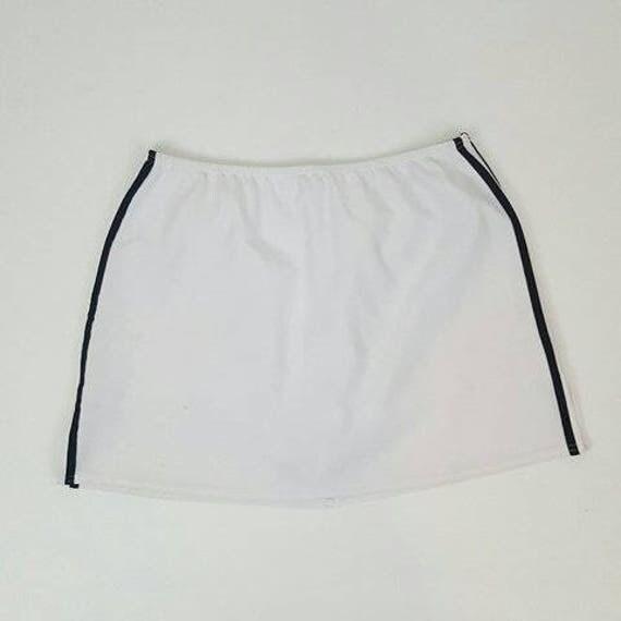 90s Vintage White Mini Skort - 2XL XXL Miniskirt Shorts - 1990s Fashion Shorts Under Mini Skirt - Classic Basic Athletic Grunge Skirt