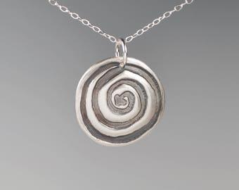 Memorial pendant-totem-talisman-amulet-spiral