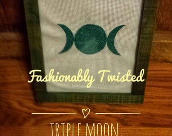 Embroidered Triple Moon Customized With Name