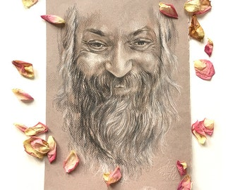 Original Drawing A4 'Smiles from Osho' Illustration