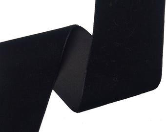 Black Velvet Plush Ribbon Trim