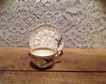 Bluebird Lucky Mini Cup And Saucer Set Made in Japan