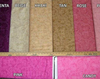 Willow Fleur Cotton Fabric Tonals C4794 by Timeless Treasures! 16 Colors! [Choose Your Cut Size]