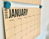 Large Wall Calendar | Big kraft paper planning blotter for school college project small business deadline family activity writeable calendar