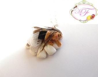 Little sleeping fairy necklace