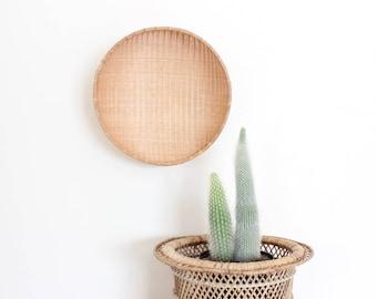 Large Wall Basket Bowl Woven Rattan Basket Giant Boho Home Decor