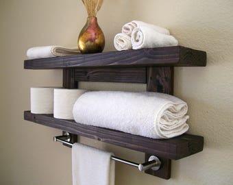 floating shelves floating shelf wood shelves bathroom shelves satin nickel towel bar
