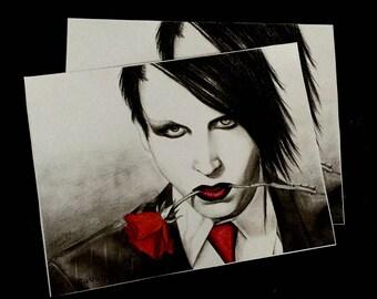 Marilyn Manson - Mini Print