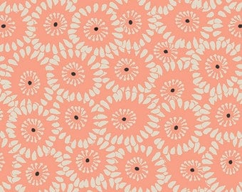 """Rapture Fabric from Rapture by Pat Bravo from Art Gallery Fabrics """" Hypnotic Paramour Rose"""". Apricot Peach Flowers. 100% cotton. RPT-2706"""