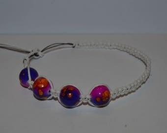 Trippy Glass Hemp Bracelet