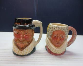 Lancaster Sandland Queen Bess And Sir Walter Raleigh Vintage Toby Jug Mug